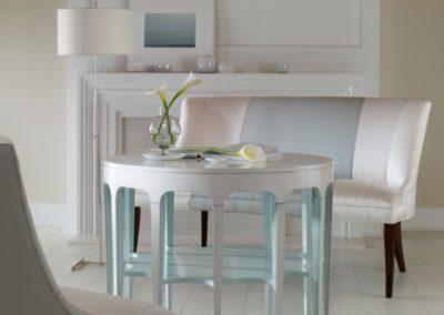 Highland House Beaufort Center Table Hall Settee High End Furniture Jake Floor Lamp Visual Comfort Thomas Obrien