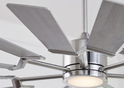Monte Carlo fan Prairie collection brushed steel